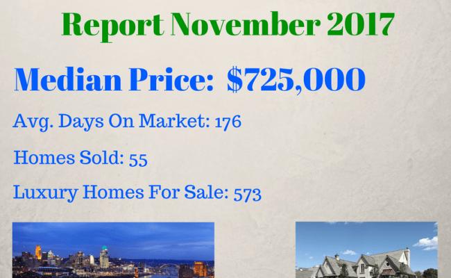 November 2017 Greater Cincinnati Luxury Real Estate Market