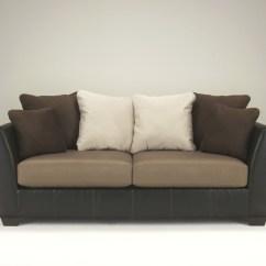 Ashley Furniture Morandi Mocha Sofa Faux 1420138 Signature By Masoli Dewaard And Bode