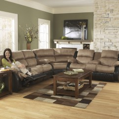 Wedge Table For Sectional Sofa Rust Colored Throw 3150177 Signature By Ashley Presley Cocoa