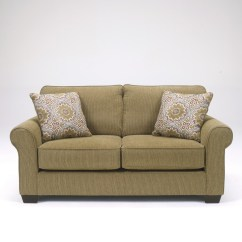 Burlap Sofa Chair Walnut Brown Leather 3580135 Signature By Ashley Corridon Loveseat