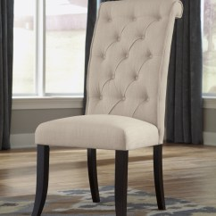 Baker Tufted Dining Chairs Round Bungee Chair D530 01 Signature By Ashley Tripton Uph Side 2 Cn Ashleytriptondining