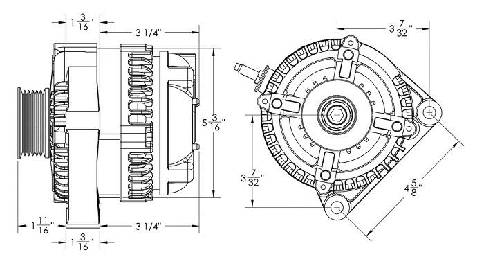 Mechman Alternators 9050240 240 Amp S Series Compact