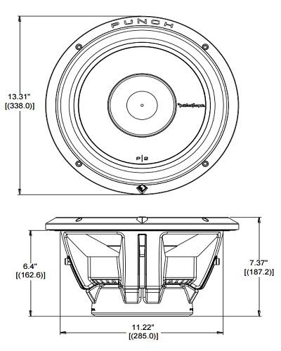 Rockford Fosgate P2D2-12 400W RMS 12