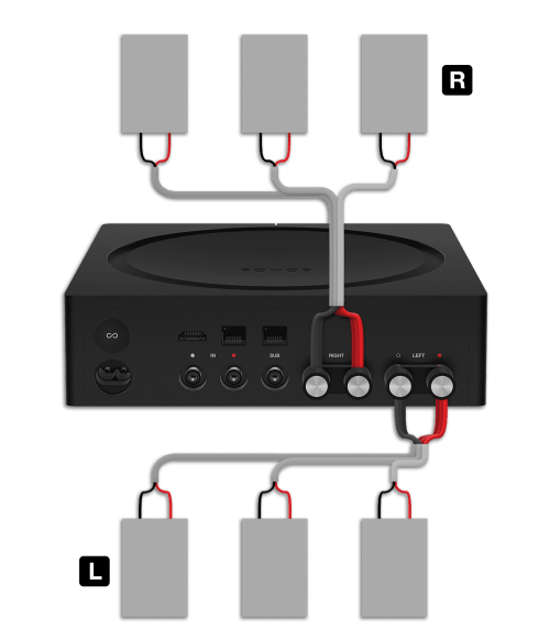 small resolution of parallel wiring six speakers to an amp