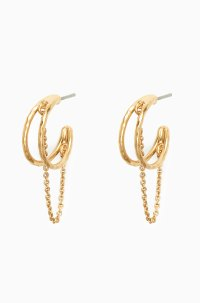 Gold Hoop and Chain Earrings | Stella & Dot | Stella & Dot