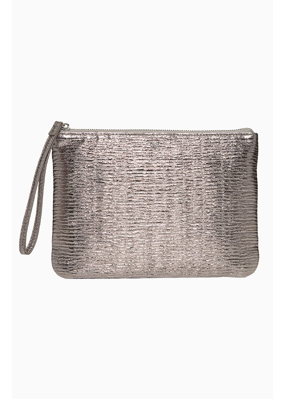 In Charge Pouch Pewter Metallic