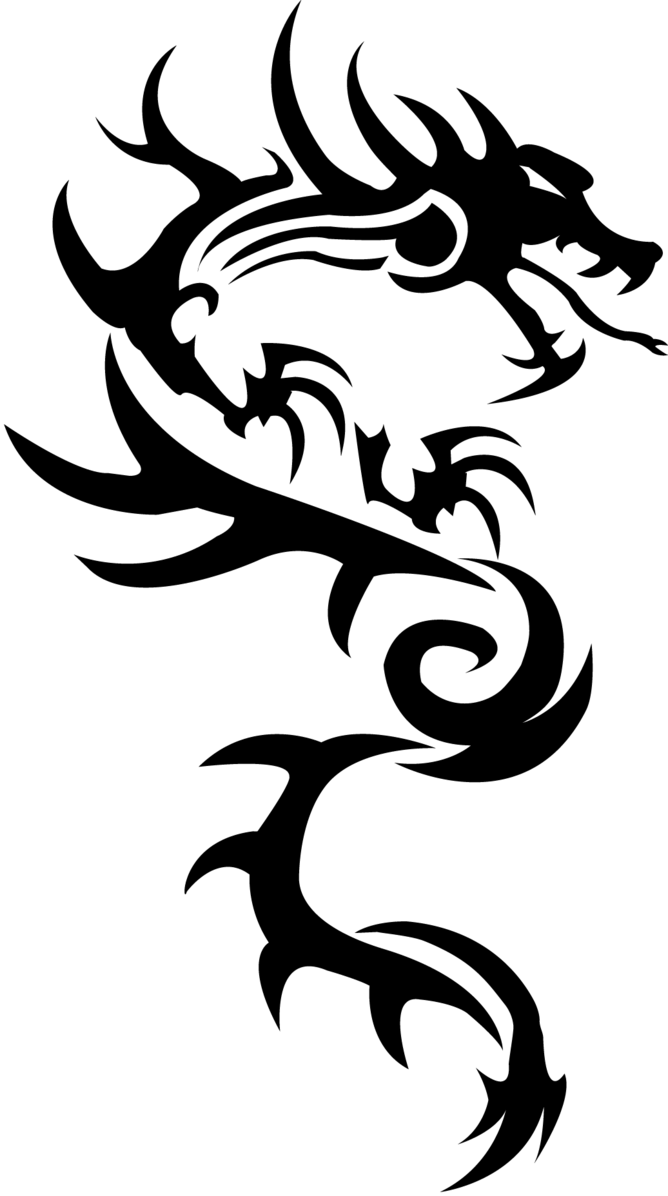 Simple Tattoo Png : simple, tattoo, Dragon, Simple, Tattoo, Transparent, StickPNG