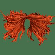 hair red transparent