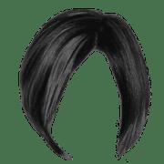 short black women hair transparent