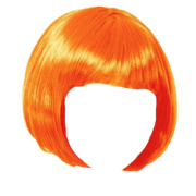 wig orange bob transparent