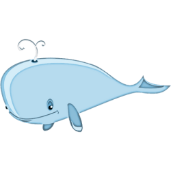 whale cartoon clipart transparent dolphin marine sea animals character mammal chubby line fish stickpng backgrounds personal