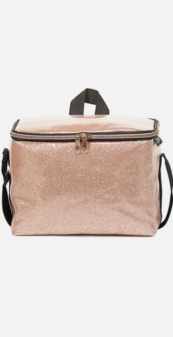 Typo - Premium cooler bag - rose gold glitter