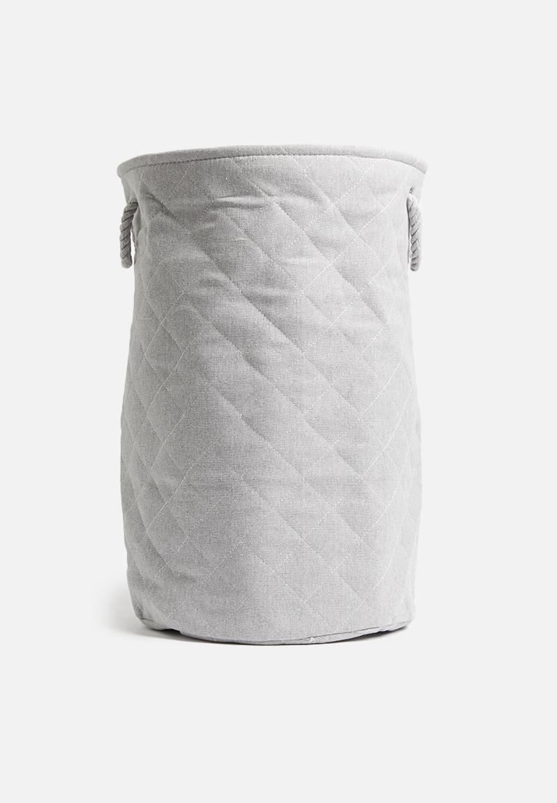 Diamond Laundry Basket Grey Sixth Floor Bathroom Accessories Superbalist Com