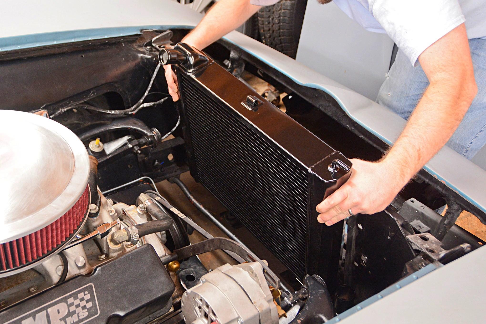 hight resolution of 01 c2 corvette radiator replace