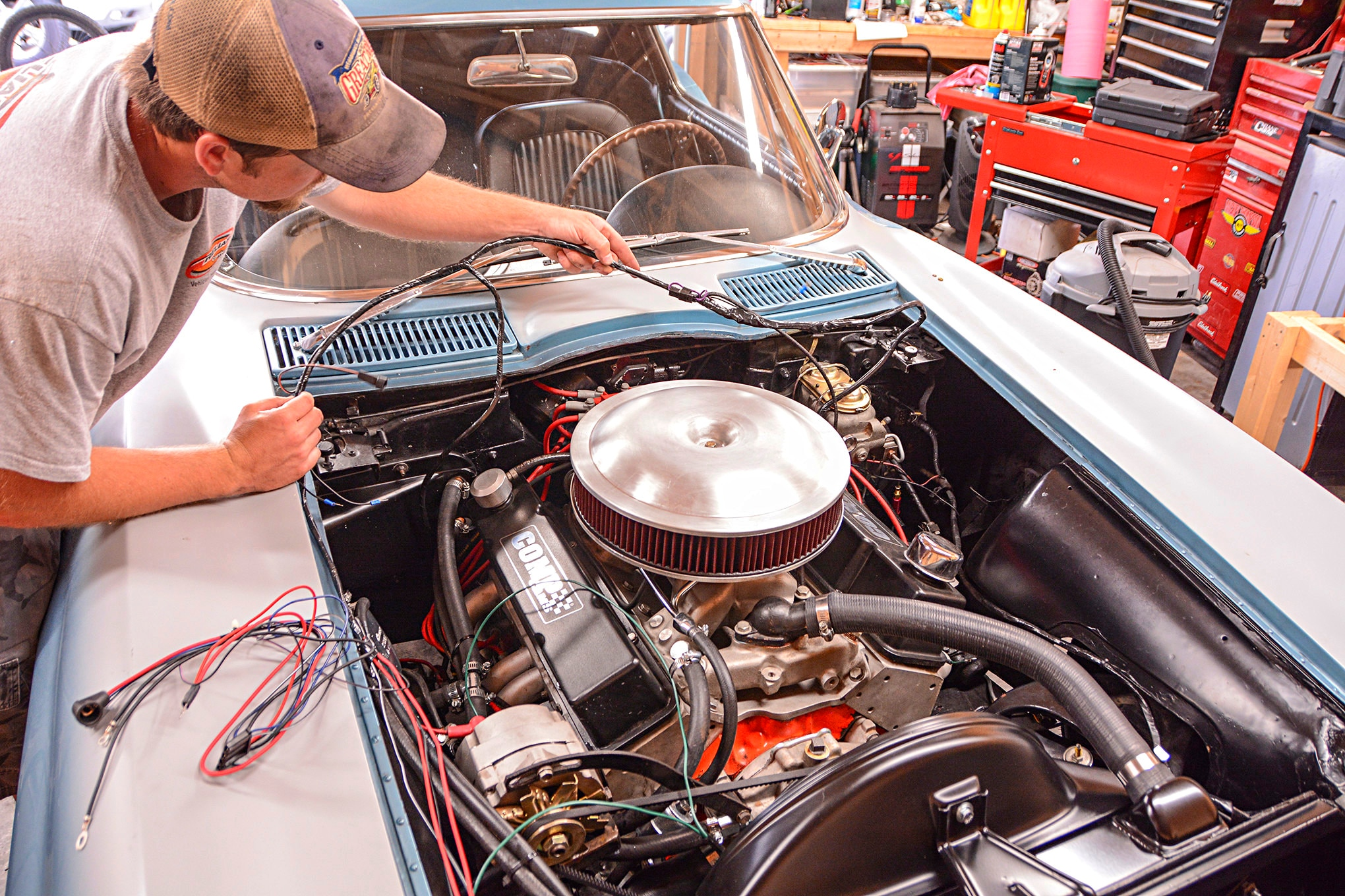corvette wiring gremlins solved and charging system upgrade 1964 corvette wiring harness [ 2040 x 1360 Pixel ]