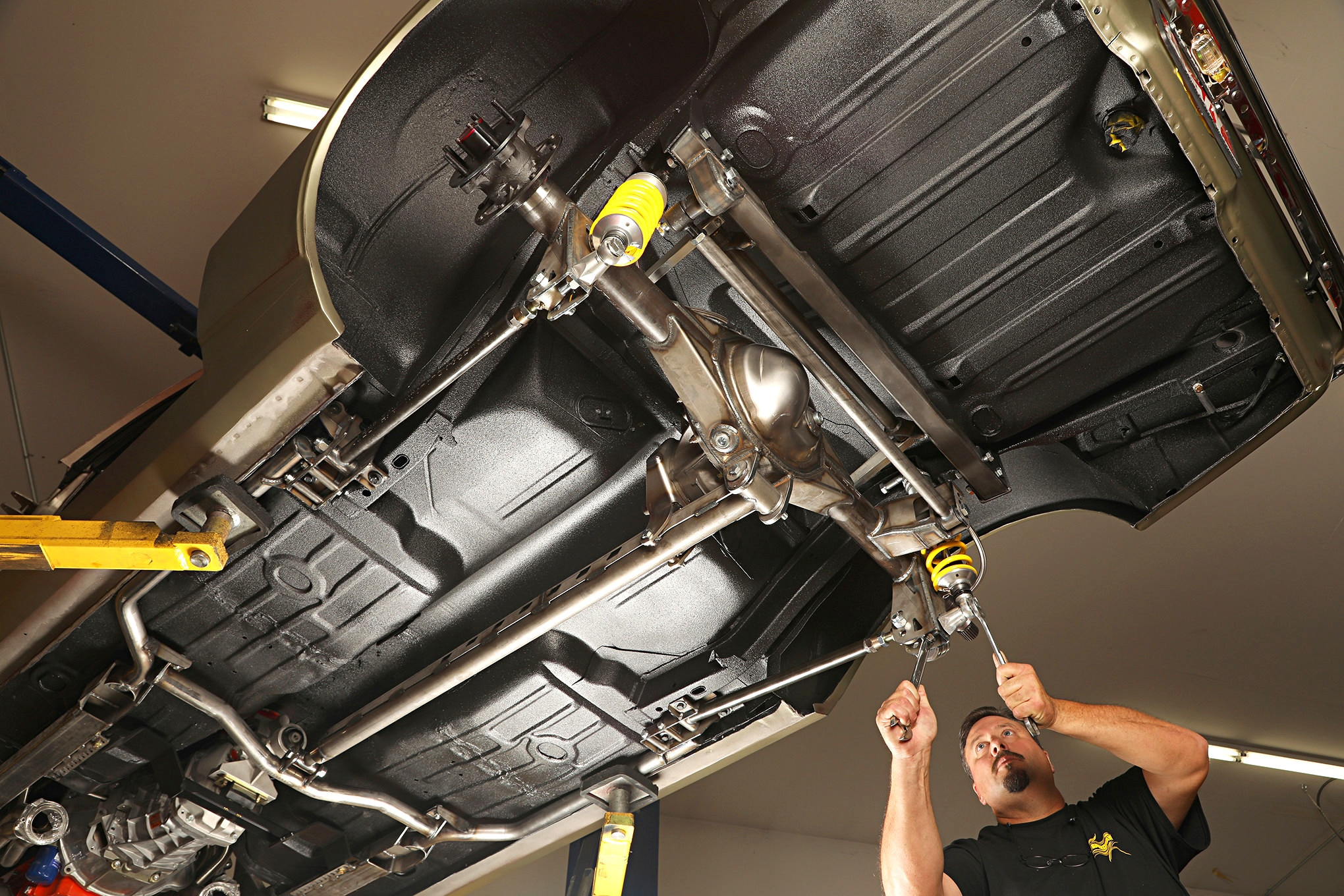 speedway motors weld on exhaust hanger bracket 10 inch long car truck exhaust hangers clamps flanges auto parts and vehicles