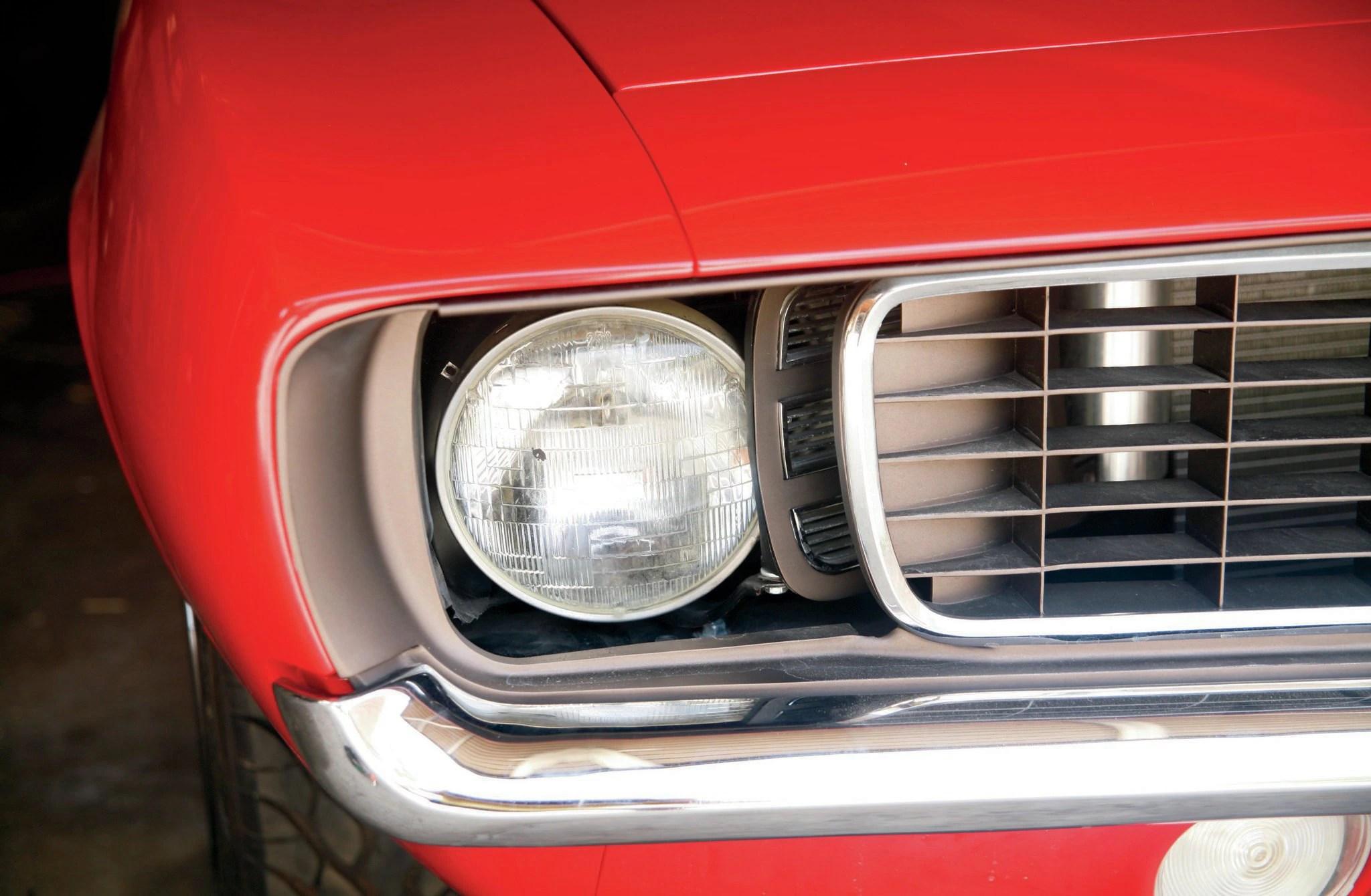 medium resolution of 1969 chevy camaro rs headlight dse doors installed