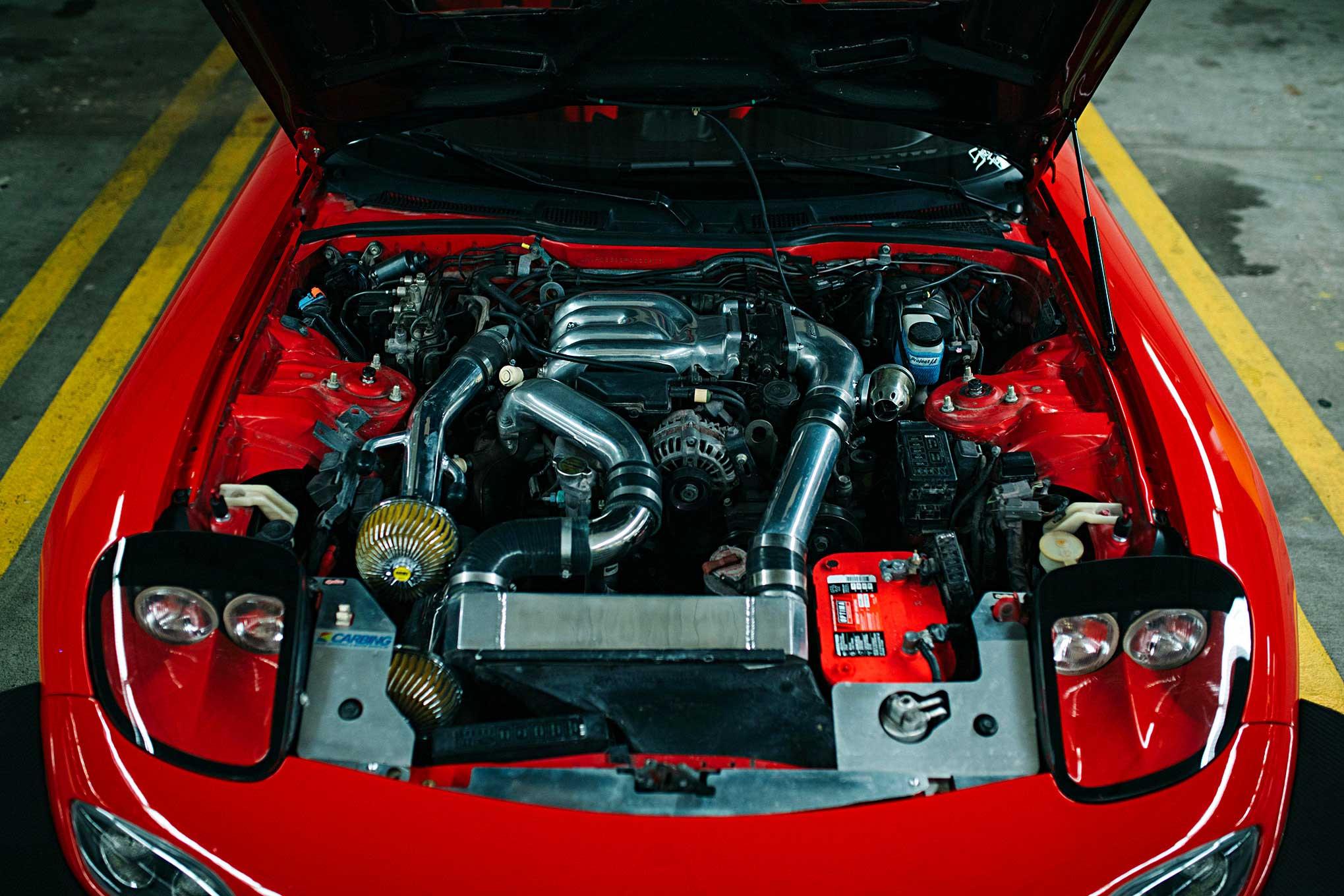 medium resolution of 1993 mazda rx7 13b rew engine