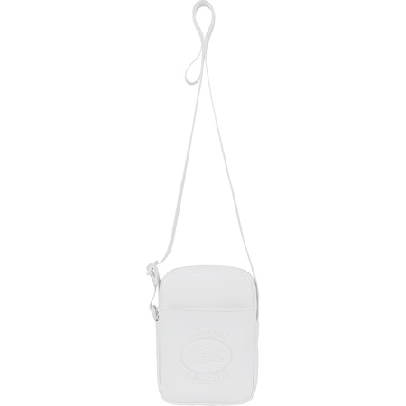 Supreme®/LACOSTE Shoulder Bag (White)