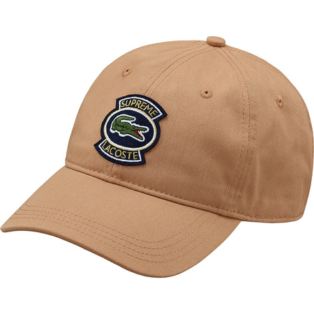 Supreme®/LACOSTE Twill 6-Panel (Light Brown)
