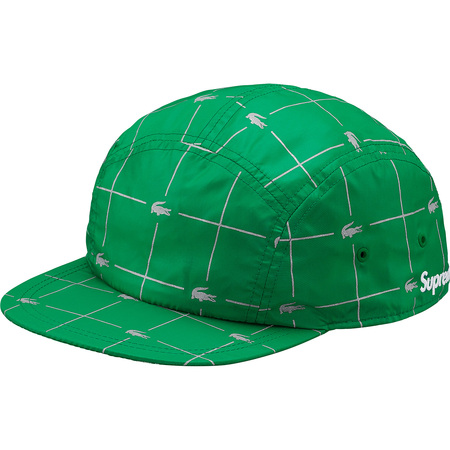 Supreme®/LACOSTE Reflective Grid Nylon Camp Cap (Green)