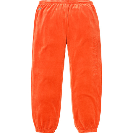 Supreme®/LACOSTE Velour Track Pant (Orange)