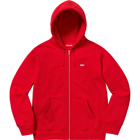 Reflective Small Box Zip Up Sweatshirt (Red)