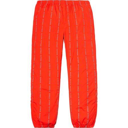 Reflective Text Track Pant (Orange)