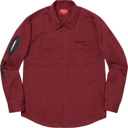 Rose L/S Work Shirt (Dusty Red)