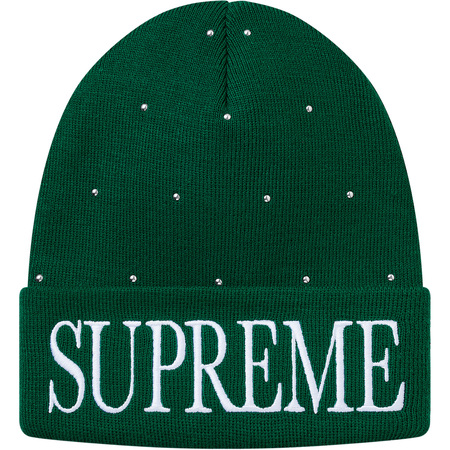 Studded Beanie (Dark Green)