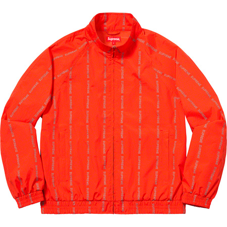 Reflective Text Track Jacket (Orange)
