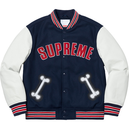 Bone Varsity Jacket (Navy)