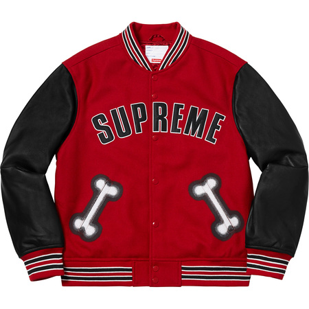 Bone Varsity Jacket (Red)