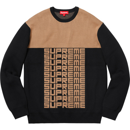 Logo Repeat Sweater (Black)
