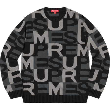 Big Letters Sweater (Black)