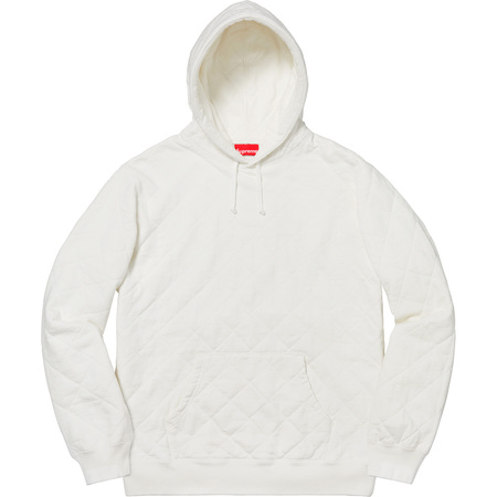 Quilted Hooded Sweatshirt (White)
