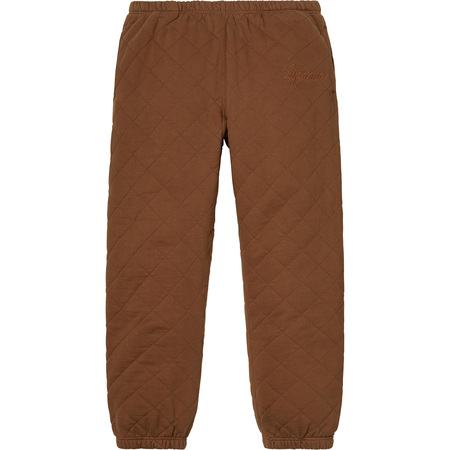 Quilted Sweatpant (Brown)