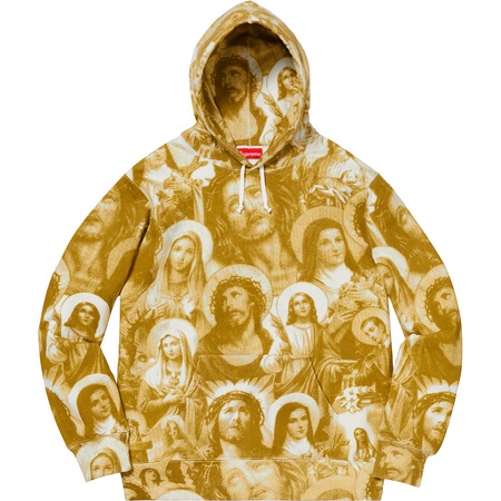 Jesus and Mary Hooded Sweatshirt (Gold)