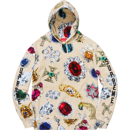 Jewels Hooded Sweatshirt (Cream)