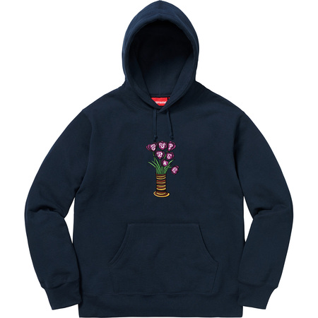 Flowers Hooded Sweatshirt (Navy)