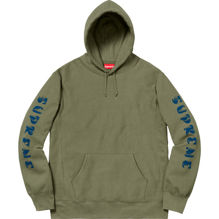 Gradient Sleeve Hooded Sweatshirt (Light Olive)