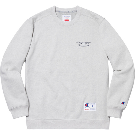 Supreme®/Champion® 3D Metallic Crewneck (Ash Grey)