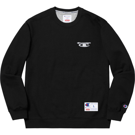 Supreme®/Champion® 3D Metallic Crewneck (Black)