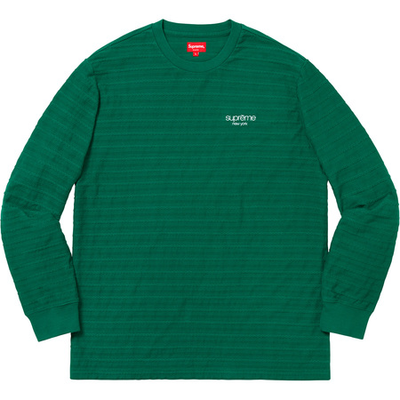 Rope Stripe L/S Top (Dark Green)