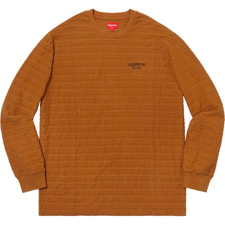 Rope Stripe L/S Top (Light Brown)