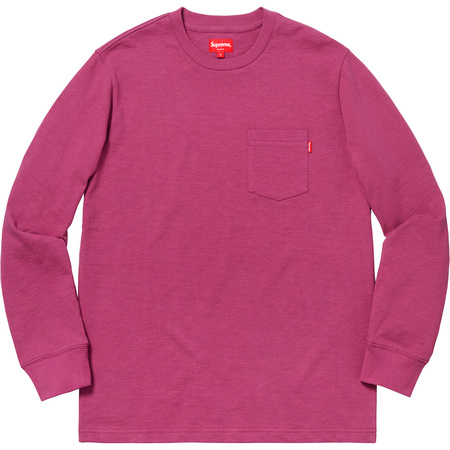 L/S Pocket Tee (Dark Magenta)