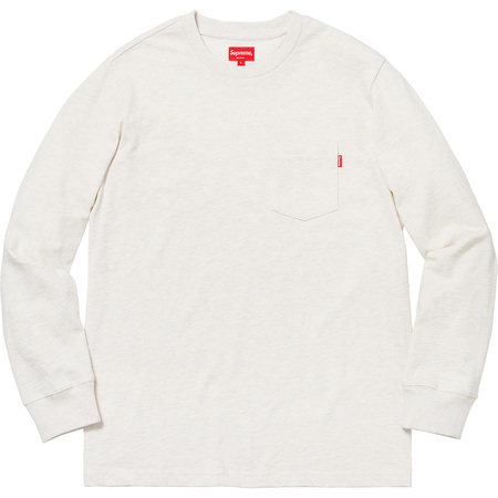 L/S Pocket Tee (Heather Natural)