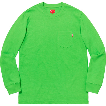 L/S Pocket Tee (Lime)