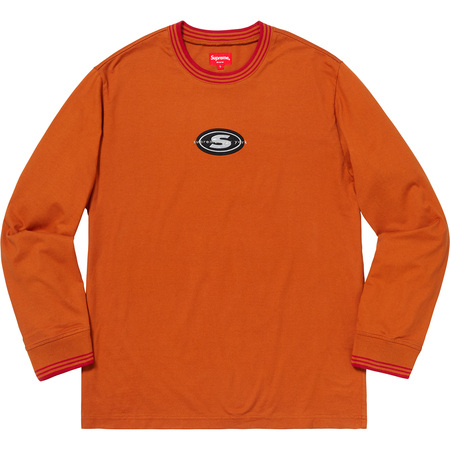 Striped Rib Logo L/S Top (Burnt Orange)