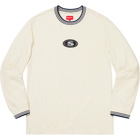 Striped Rib Logo L/S Top (Natural)